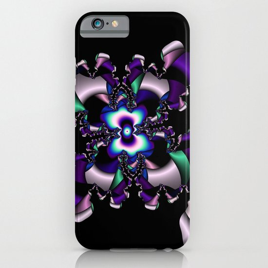 Teal and Purple abstract fractal iPhone & iPod Case
