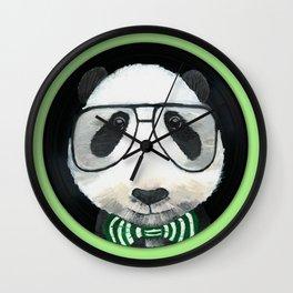 Fancy Panda on Vinyl Wall Clock