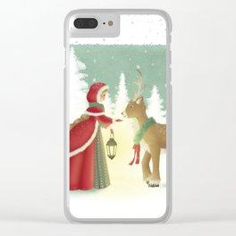 The Maiden and the Mysterious Reindeer Clear iPhone Case