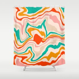 Warm abstract marble Shower Curtain