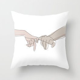 Pinky Shades Throw Pillow