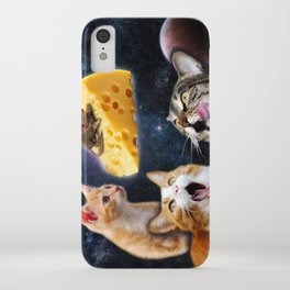 Cats and the mouse on the cheese iPhone Case
