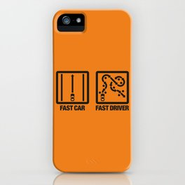 Fast Car - Fast Driver v2 HQvector iPhone Case