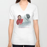 mulder V-neck T-shirts featuring Mulder and the ET files by Magdalena Almero