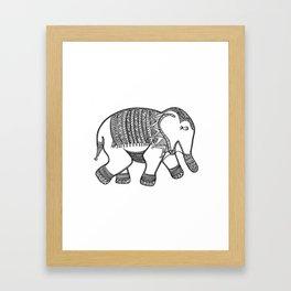 Elephant Print Framed Art Print