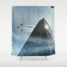 Blue Angels Over Hancock Shower Curtain