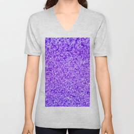 A 100X photomicrograph magnification of a hematoxylin and eosin (HE)-stained liver tissue specimen r Unisex V-Neck