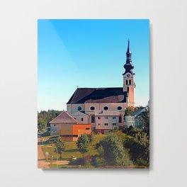 The village church of Reichenthal Metal Print