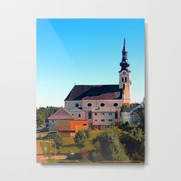 The village church of Reichenthal Metal Print