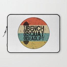 1000 Pounds Bench Squat Deadlift Powerlift Club Fitness Bodybuilder Bodybuilding Vintage Retro Laptop Sleeve