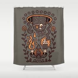 Grand Magus Summons Entity With Dark Popcorn Power Shower Curtain