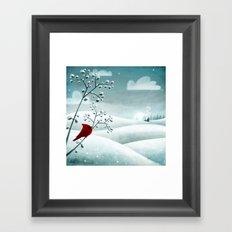 Cardinal by Friztin Framed Art Print