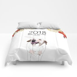 Year of the Dog - White Labrador Comforters