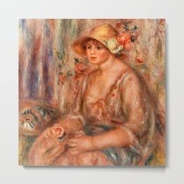 Pierre-Auguste Renoir - Woman in Muslin Dress Metal Print
