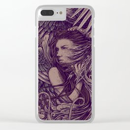 Fight Eagle Clear iPhone Case
