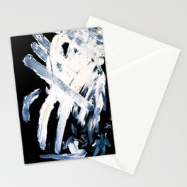 Wind on black paper Stationery Cards