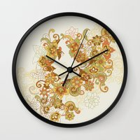 1975 Wall Clocks featuring 1975 by Tom Burns