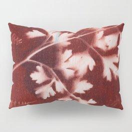 Brown Printed Leaves Pillow Sham