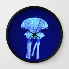 Blue jellyfish Wall Clock