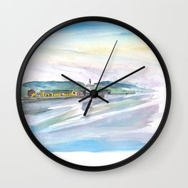 Blennerville Tides Sunny Evening at Dingle Peninsula Ireland Wall Clock