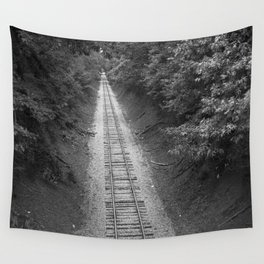 Down The Rails Wall Tapestry