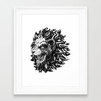 lion Framed Art Prints featuring Lion by BIOWORKZ