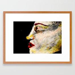 pale woman Framed Art Print