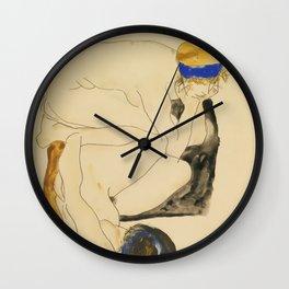 """Egon Schiele """"Zwei Liegende Figuren"""" Wall Clock"""