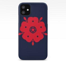 Japanese Samurai flower red pattern iPhone Case