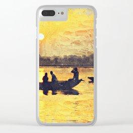 India Varinasi Ganges Clear iPhone Case