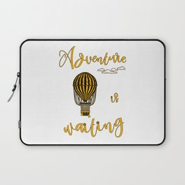 Adventure is Waiting Retro Hot Air Balloon Pilot Laptop Sleeve