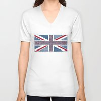 uk V-neck T-shirts featuring Lovely UK by Anita Ivancenko