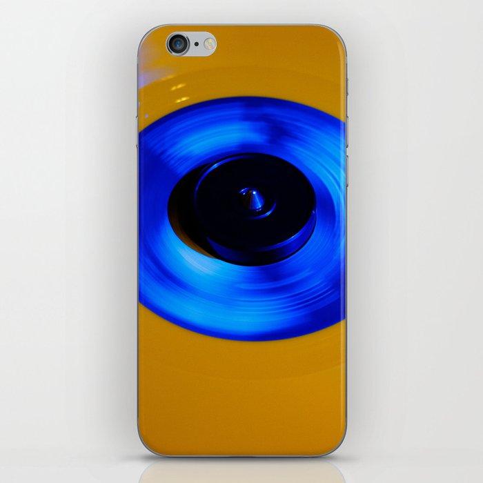 Yellow Blue Record iPhone Skin