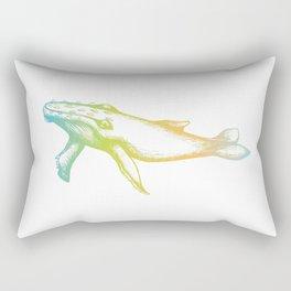 Colour Gradient Whale Rectangular Pillow
