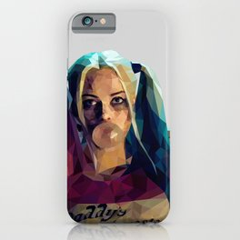 Daddy's Monster - Harley Quinn Low Poly Art iPhone Case