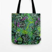 key Tote Bags featuring Key by Emma Stein
