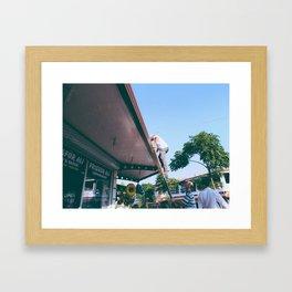 Barber - Color Framed Art Print