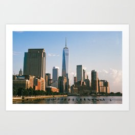 View from Hudson River Park Art Print