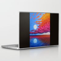 sia Laptop & iPad Skins featuring reflection of the moon on the sea by giol's
