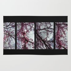 Under the trees: early spring Rug