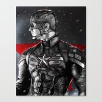 avenger Canvas Prints featuring First Avenger by p1xer