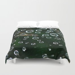 Spiderweb Water Droplets  Duvet Cover