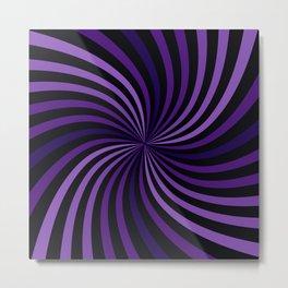 Purple Hypnotizing Swirl Metal Print