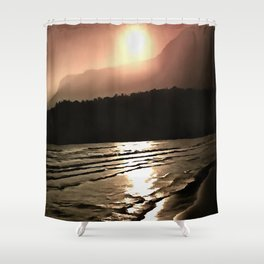 Overwhelming Waves of Sadness Shower Curtain