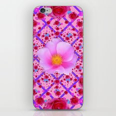 Pink & Red Rose Abstract Pattern iPhone & iPod Skin