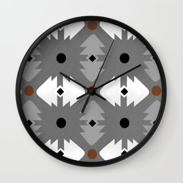 Modern Desert Fox Southwest Pattern Wall Clock