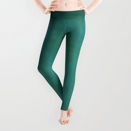 Abstract Soft Watercolor Gradient Ombre Blend 11 Teal, Turquoise, Green and Blue Leggings
