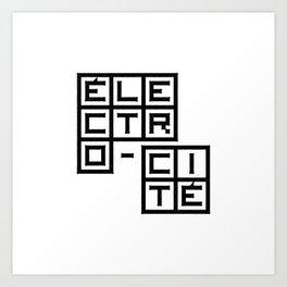 Électro-Cité 1 Art Print