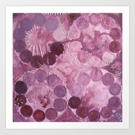 Abstract No. 13, PINK Art Print