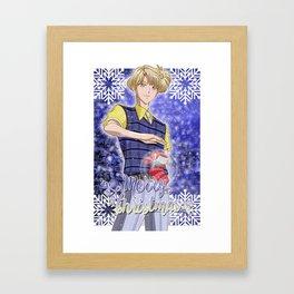 Merry Xmas Haruka! Framed Art Print